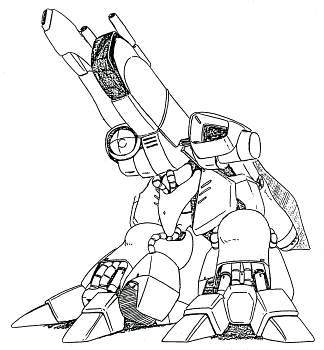 AMX-003 Gaza-C in mobile armour mode from Gundam Sentinel