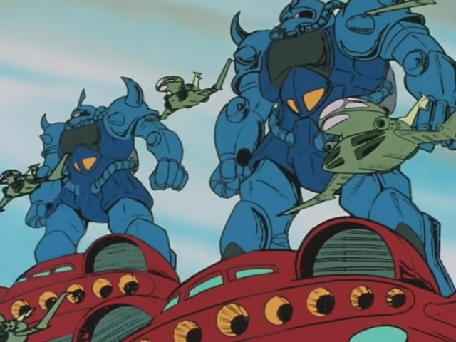 Dodai YS carrying MS-07B Gouf