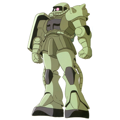 MS-06F Zaku II from Mobile Suit Gundam