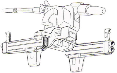 Backpack for MS-06K Zaku Cannon