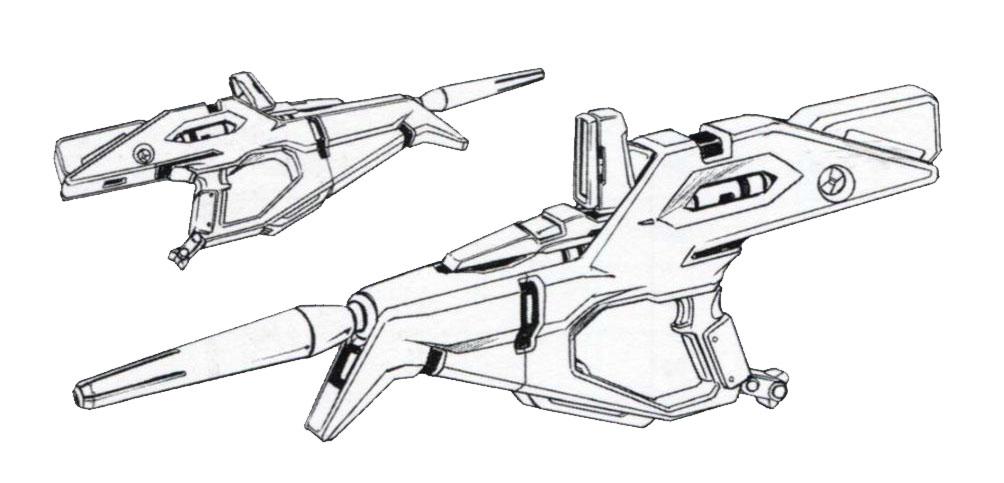 RX-105 Ξ Gundam beam rifle