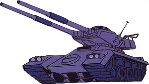 Type 61 MBT from Mobile Suit Gundam