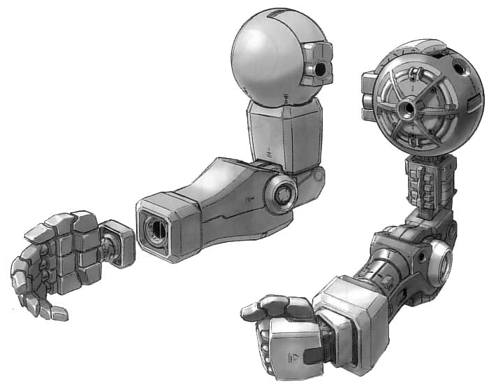 YMS-15 Gyan arms